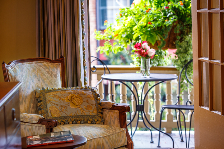 The Eli Whitney Guest Room at The Gastonian Bed and Breakfast in Savannah, GA