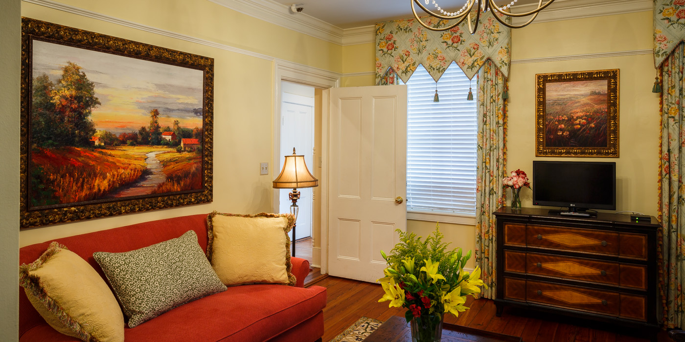 Half-House Rental at The Gastonian Bed and Breakfast for your Savannah Wedding