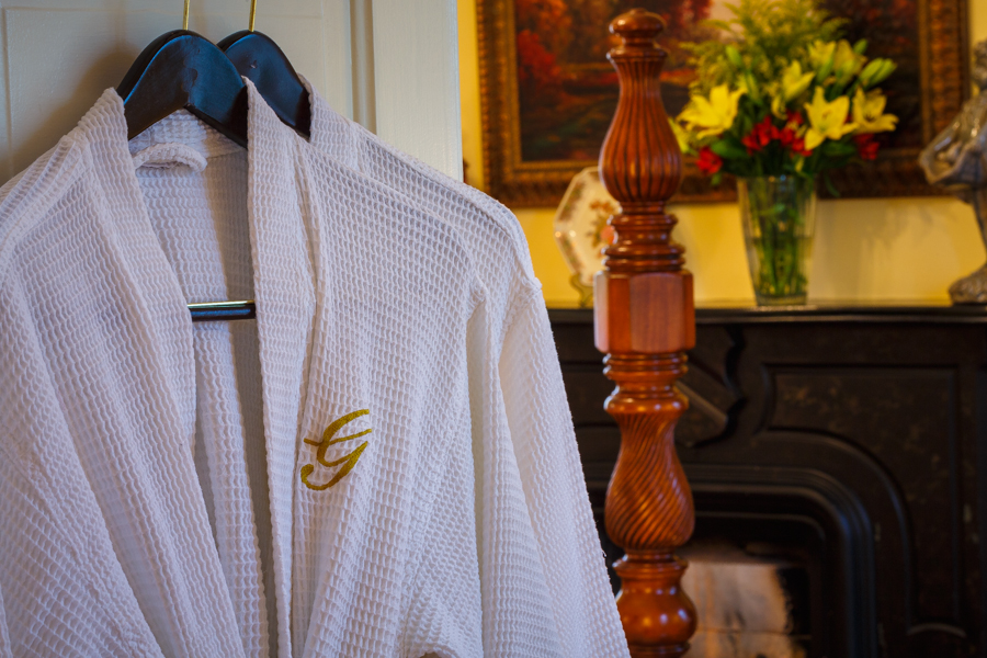Comfortable robes in each guest room