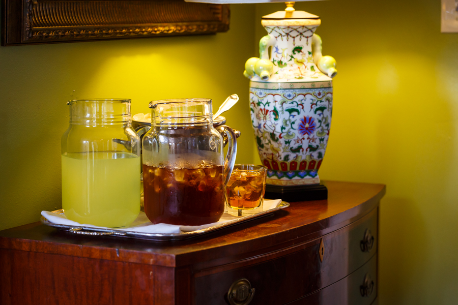 Iced tea and lemonade in the parlor