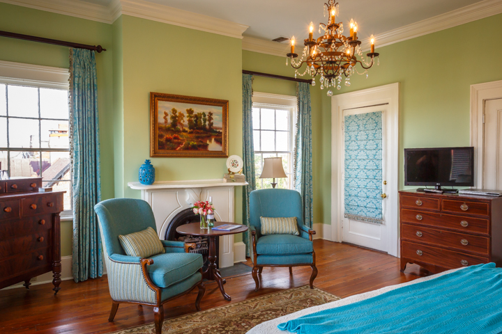 The Julia Scarborough Room at The Historic Gastonian Bed and Breakfast in Savannah, GA