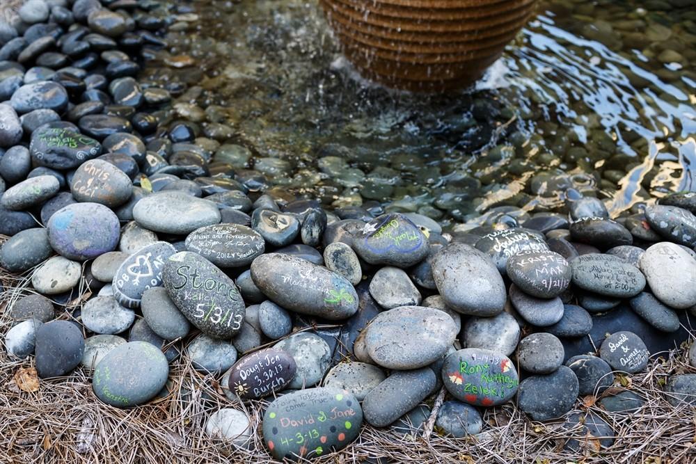 Stones in Gastonian Inn's Garden
