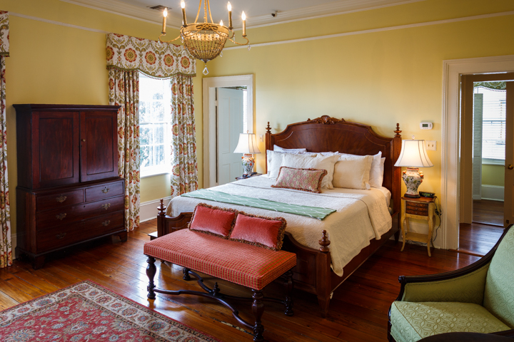 Sheftall-Sheftall Grand Superior King Guest Room at our Savannah Bed and Breakfast