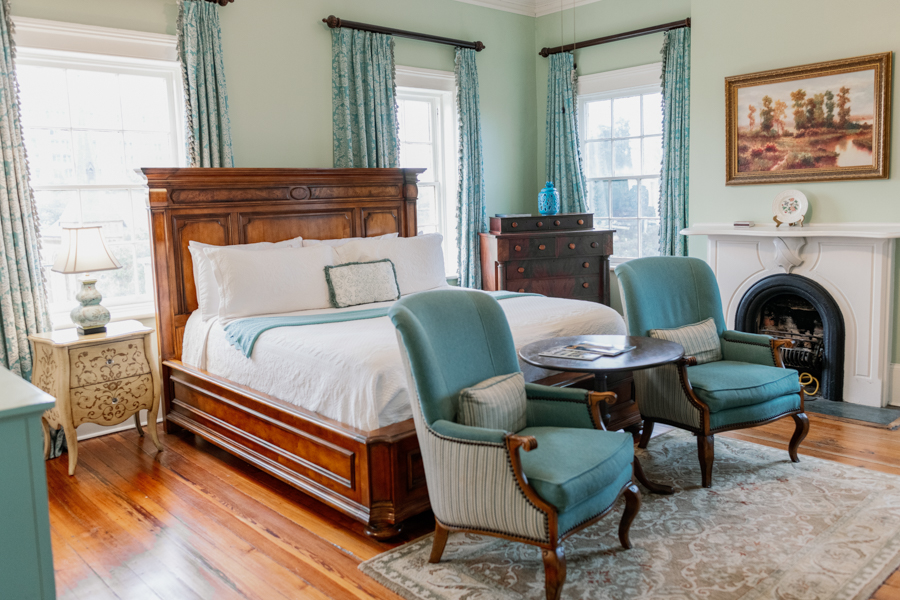 The Julia Scarborough Guest Room at our Savannah Bed and Breakfast